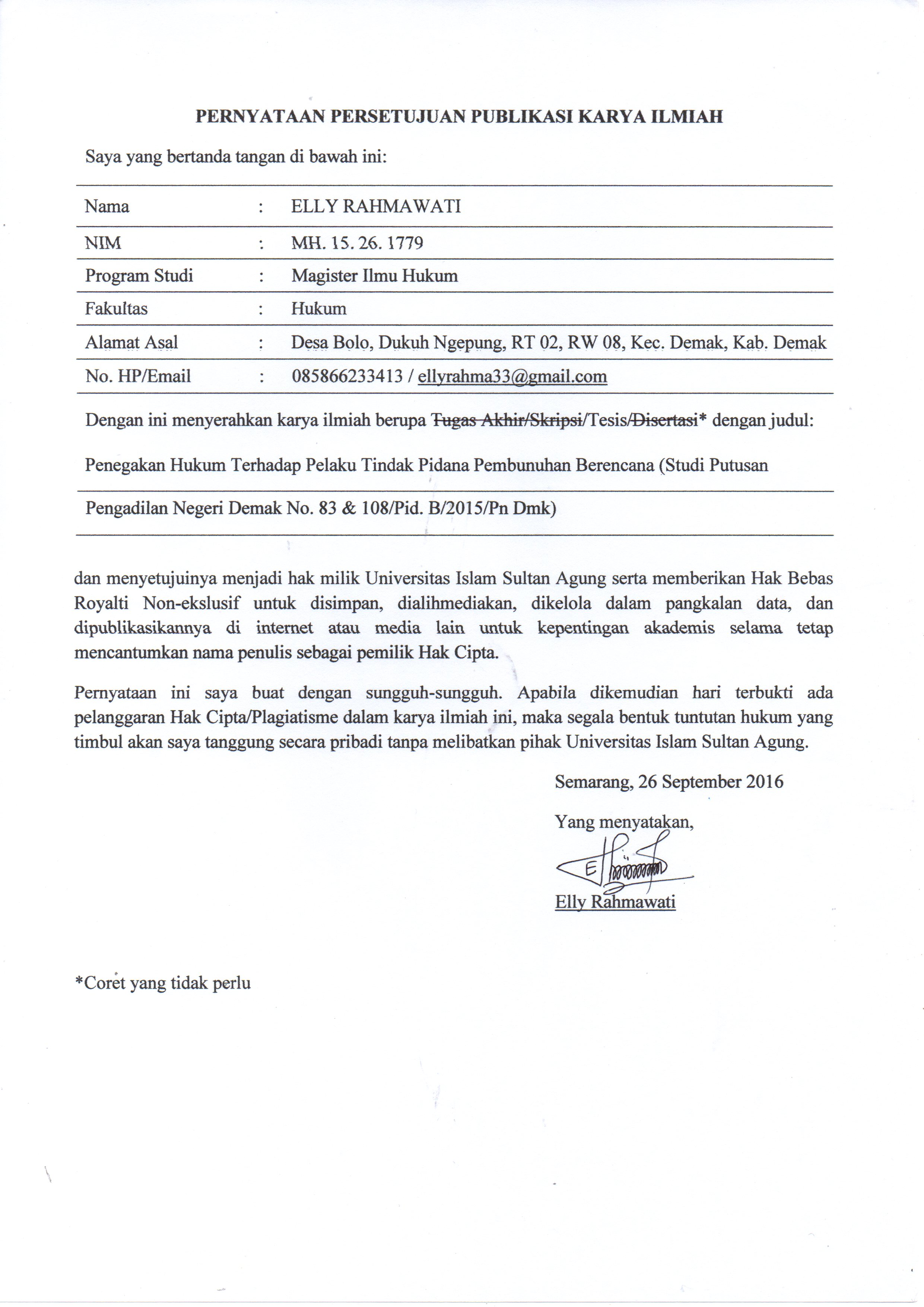 Kumpulan Judul Tesis Hukum Pidana College Paper Academic Service